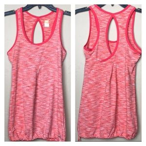Lucy Coral Orange Lucy Tech Carbon Athletic Tank